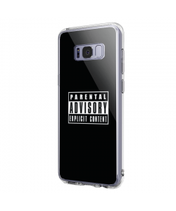 Parental Advisory - Samsung Galaxy S8 Plus Carcasa Transparenta Silicon