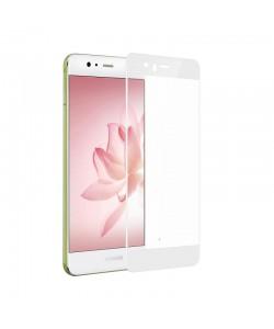 Folie Devia Frame Sticla Temperata White (1 fata Anti-Shock, 9H, 2.5D, 0.26mm) - Huawei P10 Lite