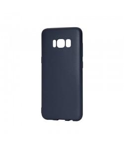 Procell Silky - Samsung Galaxy S8 Carcasa Silicon Albastru Inchis