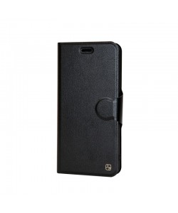 Just Must Book Slim I - Huawei P10 Lite Husa Book Neagra (carcasa ultraslim flexibila)