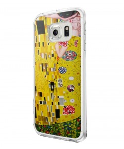 Gustav Klimt - The Kiss - Samsung Galaxy S6 Edge Carcasa Silicon Premium