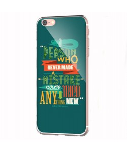 Anything New - iPhone 6 Carcasa Transparenta Silicon
