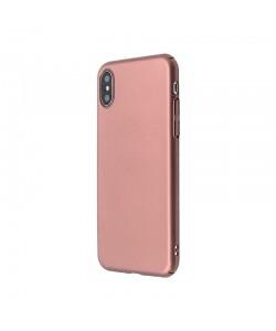 Just Must Uvo - iPhone X Carcasa Plastic Rose Gold (material fin la atingere, slim fit)