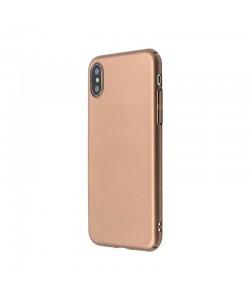 Just Must Uvo - iPhone X Carcasa Plastic Gold (material fin la atingere, slim fit)