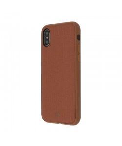 Just Must Pilot Brown - iPhone X Carcasa PC (margini flexibile, placuta metalica integrata)