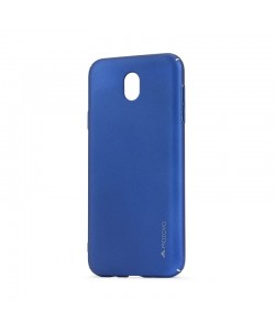 Meleovo Metallic Slim 360 - Samsung Galaxy J7 (2017) Carcasa PC Blue (culoare metalizata fina)