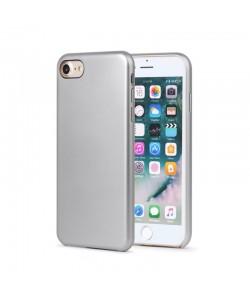 Meleovo Pure Gear II Silver - iPhone 8 Carcasa (culoare metalizata fina, interior piele intoarsa)