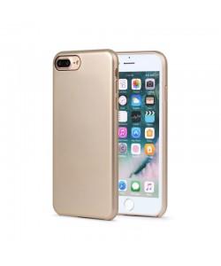 Meleovo Pure Gear II Gold - iPhone 8 Plus Carcasa (culoare metalizata fina, interior piele intoarsa)