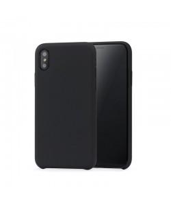 Meleovo Pure Gear II Black - iPhone X Carcasa (culoare metalizata fina, interior piele intoarsa)