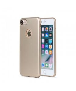 Meleovo 360 Shield - iPhone 8 Carcasa Plastic Gold (culoare metalizata fina, captuseala din microfibra)