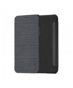 Meleovo Smart Flip Black - iPhone X Husa Flip (spate mat perlat si fata cu aspect metalic)