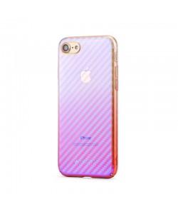 Meleovo Flash Carbon Purple - iPhone 8 Carcasa Plastic (cu reflexii Albastre)