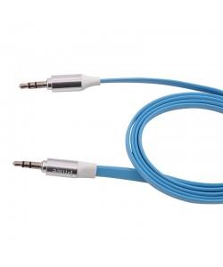 Cablu Audio plat jack 3.5mm (cu protectie metalica) Melkco Albastru