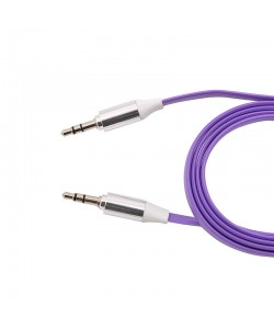 Cablu Audio plat jack 3.5mm (cu protectie metalica) Melkco Violet