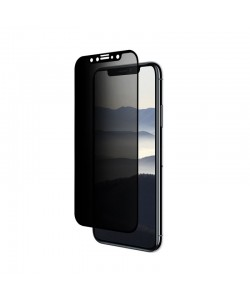 Folie Eiger Sticla 3D Privacy Black (0.33mm, 9H, case friendly, curved, oleophobic) - iPhone X