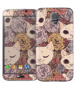 Flower Cats - Samsung Galaxy S5 Skin