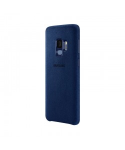 Samsung Alcantara Cover - Samsung Galaxy S9 Carcasa Albastra