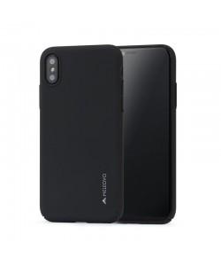 Meleovo Metallic Slim 360 - iPhone X Carcasa PC Neagra (culoare metalizata fina)