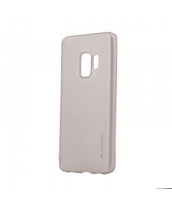 Meleovo Gold - Samsung Galaxy S9 Carcasa Silicon Soft Slim (aspect mat)