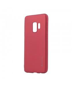 Meleovo Red - Samsung Galaxy S9 Carcasa Silicon Soft Slim (aspect mat)
