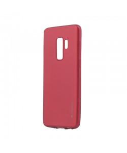 Meleovo Red - Samsung Galaxy S9 Plus Carcasa Silicon Soft Slim (aspect mat)