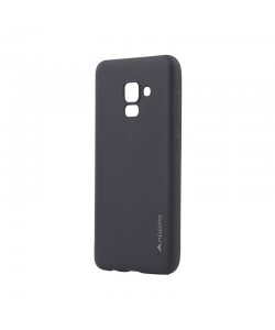 Meleovo Soft Slim Black - Samsung Galaxy A8 (2018) Carcasa Silicon (aspect mat)