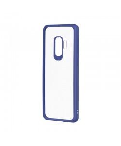 Devia Pure Style Navy - Samsung Galaxy S9 Carcasa (antishock, spate dur si margini mate & flexibile)