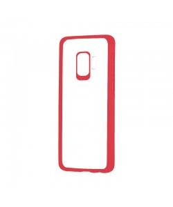 Devia Pure Style Red - Samsung Galaxy S9 Carcasa (antishock, spate dur si margini mate & flexibile)