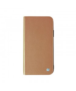 Meleovo Smart Jacket Light Brown - iPhone X Husa Book Piele eco