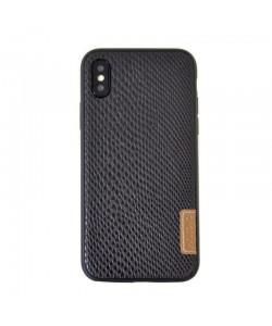 Meleovo Snaky Black - iPhone X Carcasa TPU