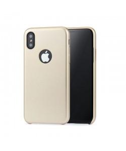 Meleovo Pure Gear I Gold - iPhone X Carcasa Plastic