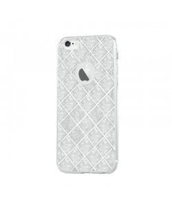 Devia Silicon Knight Silver - iPhone 6/6S Carcasa Silicon (cu folie spate glitter detasabila)