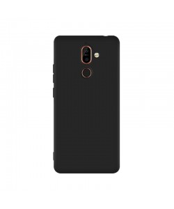 Just Must Candy Black - Nokia 7 Plus Carcasa Silicon Negru
