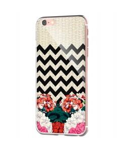 Floral Contrast - iPhone 6 Carcasa Transparenta Silicon