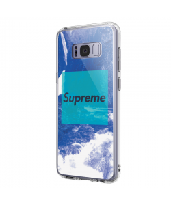 Supreme Clouds - Samsung Galaxy S8 Plus Carcasa Transparenta Silicon