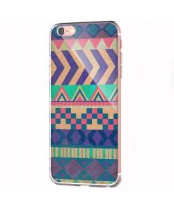 Tribal Pastel - iPhone 6 Carcasa Transparenta Silicon