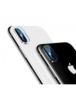 Folie Baseus Sticla Camera Lens Transparent (0.2mm, pentru camera) - iPhone X