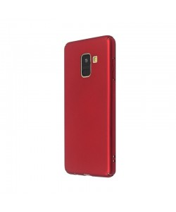 Just Must Uvo Red - Samsung Galaxy A8 (2018) Carcasa Plastic (material fin la atingere, slim fit)