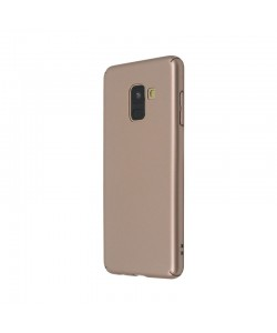 Just Must Uvo Gold - Samsung Galaxy A8 (2018) Carcasa Plastic (material fin la atingere, slim fit)