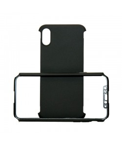Just Must Defense 360 Black - iPhone X (3 piese: protectie spate, protectie fata, folie Flexi-Glass)