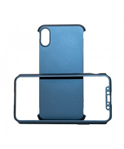 Just Must Defense 360 Navy - iPhone X (3 piese: protectie spate, protectie fata, folie Flexi-Glass)