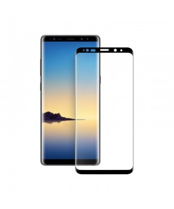 Folie Eiger Sticla 3D Edge to Edge Clear Black (0.33mm, 9H, perfect fit, curved, oleophobic) - Samsung Galaxy Note 9