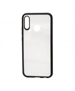 Devia Pure Style Black - Huawei P20 Lite Carcasa (antishock, spate dur si margini mate si flexibile)