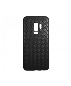 Devia Woven Soft Black - Samsung Galaxy S9 (flexibil cu design piele impletita)