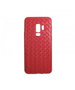 Devia Woven Soft Red - Samsung Galaxy S9 Plus (flexibil cu design piele impletita)