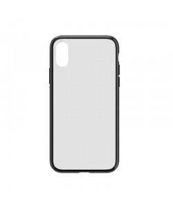 Devia Elegant Antishock Black - iPhone XR Carcasa (spate dur transparent, margini antishock slim)