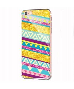 Pretty Glitter - iPhone 6 Carcasa Transparenta Silicon