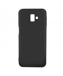 Just Must Candy Black - Samsung Galaxy J6 Plus Carcasa Silicon Negru