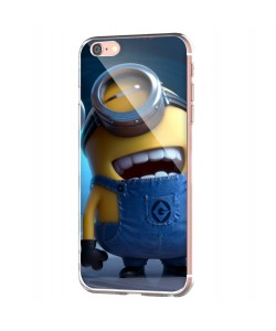 Funny Minions - iPhone 6 Carcasa Transparenta Silicon