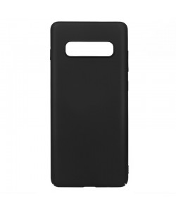 Just Must Uvo Black - Samsung Galaxy S10 Carcasa Plastic (material fin la atingere, slim fit)